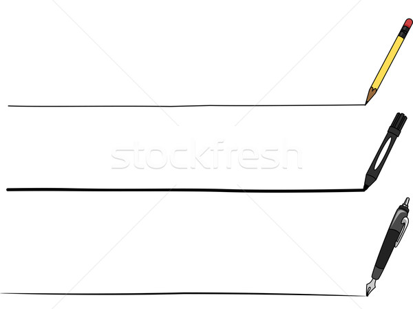Lining Tools Stock photo © lenm
