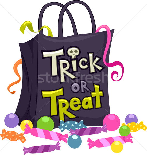 Trick or Treat Bag Stock photo © lenm