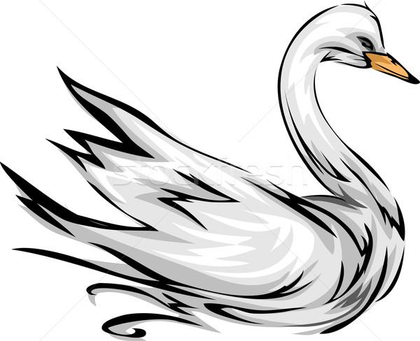лебедя иллюстрация крыльями спортивных птица компания Сток-фото © lenm