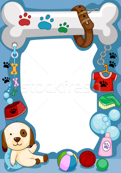 Dog Frame Stock photo © lenm