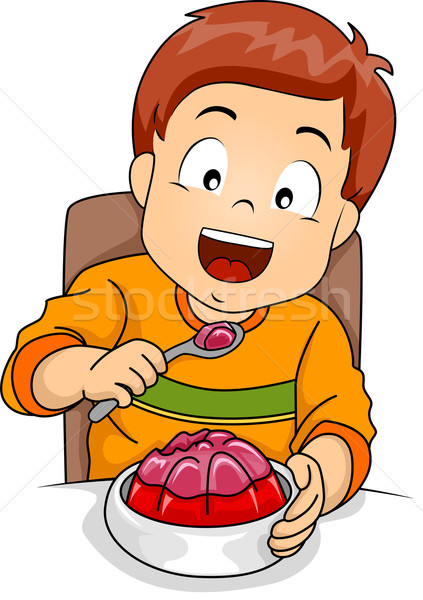 Boy Eating Jelly Stock photo © lenm