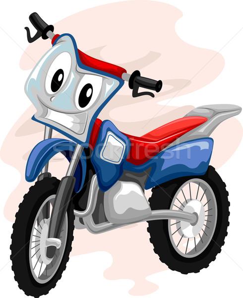 Mascot Motocross Bike Stock photo © lenm
