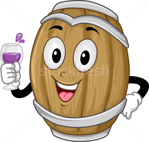 вино баррель талисман пить иллюстрация Сток-фото © lenm