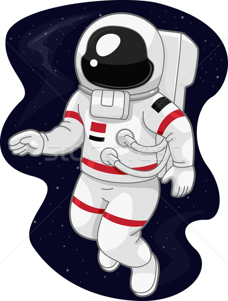 Photo stock: Astronaute · illustration · science · étude · cartoon · Homme