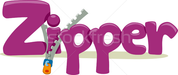 Zipper texte illustration mot éducation lettre Photo stock © lenm