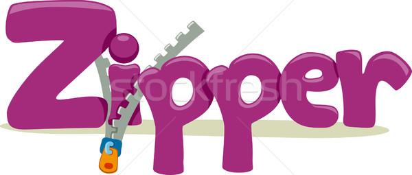 молния текста иллюстрация слово образование письме Сток-фото © lenm