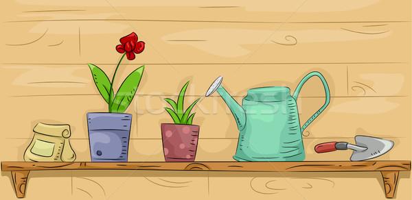 Gardening Shelf Stock photo © lenm