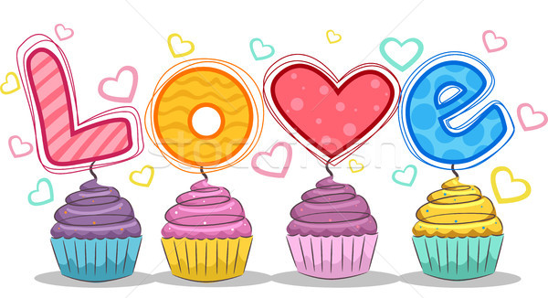 Love Cupcakes Stock photo © lenm