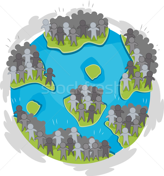 Overpopulated Earth Stock photo © lenm