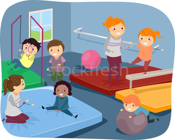 Kiddie Gymnasts Stock photo © lenm