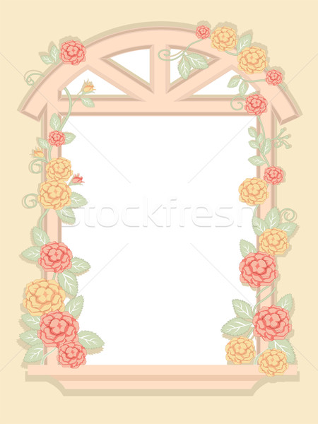 Shabby Chic Window Frame Stock photo © lenm