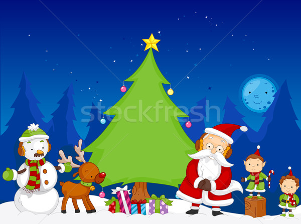 Christmas Scene Stock photo © lenm