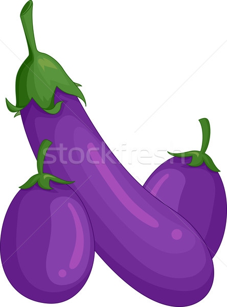 Eggplants Stock photo © lenm