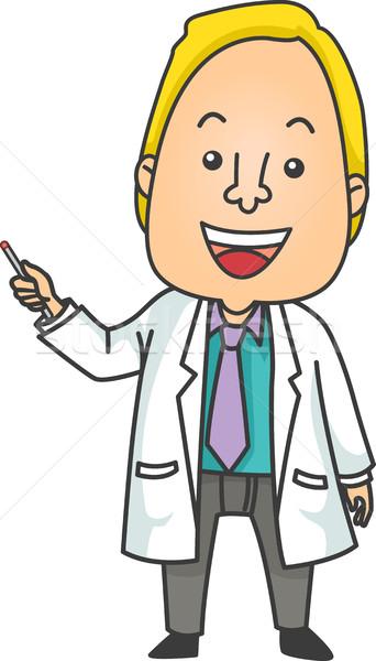 Uomo medico laser illustrazione dare presentazione Foto d'archivio © lenm