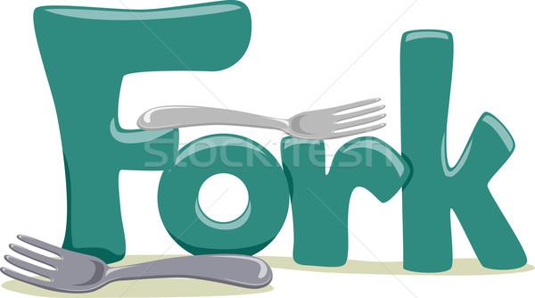 Villa szöveg illusztráció szó oktatás levél Stock fotó © lenm