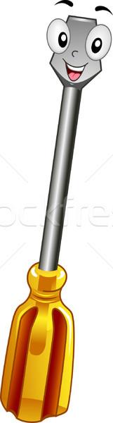Cacciavite mascotte illustrazione cartoon vettore clipart Foto d'archivio © lenm