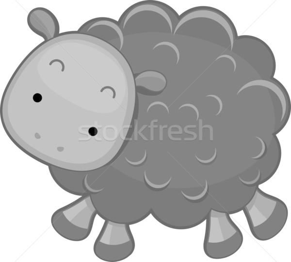 黒 羊 実例 デザイン ベクトル 孤立した ストックフォト © lenm