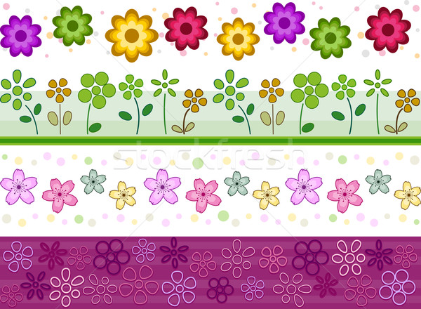 Floral Borders Stock photo © lenm