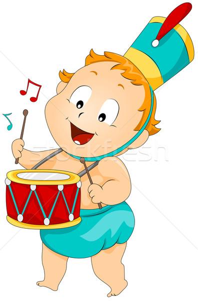 Baby trommelaar kind kid geluid Stockfoto © lenm
