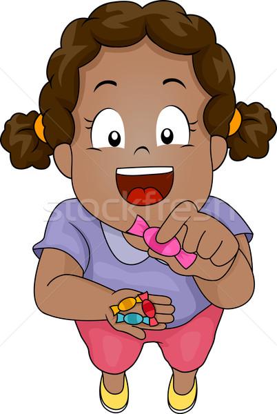 Candy Girl Stock photo © lenm