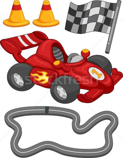 レースカー 要素 実例 異なる デザイン デジタル ストックフォト © lenm