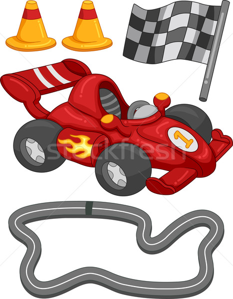 Race auto communie illustratie verschillend ontwerp digitale Stockfoto © lenm