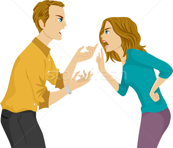 Stock photo: Husband and Wife Argument