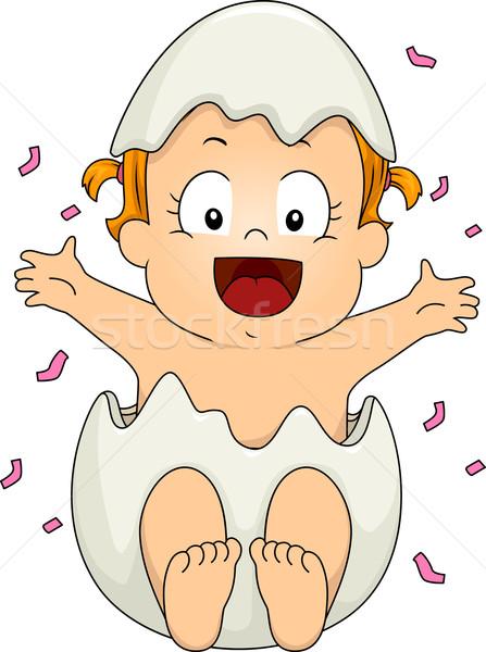 Genere illustrazione fuori uovo baby Foto d'archivio © lenm
