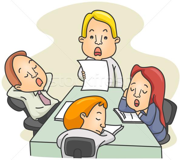 Entediado reunião ilustração reunião do conselho Foto stock © lenm