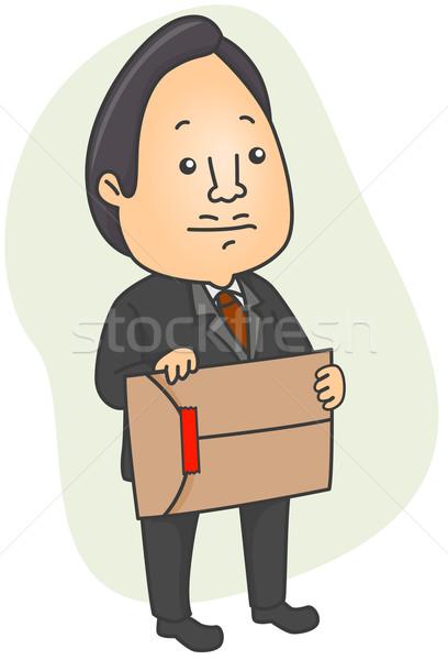 Bürokrácia illusztráció férfi tart boríték piros Stock fotó © lenm
