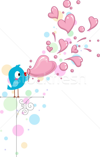 Lovebird Bubbles Stock photo © lenm
