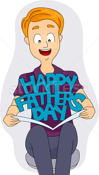 Father's Day Card Stock photo © lenm