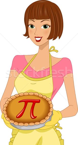 Stockfoto: Pi · dag · illustratie · vrouw · vieren · vrouwelijke