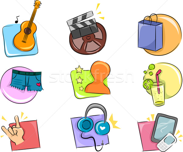 Hobbies and Interests Icon Design Elements Stock photo © lenm