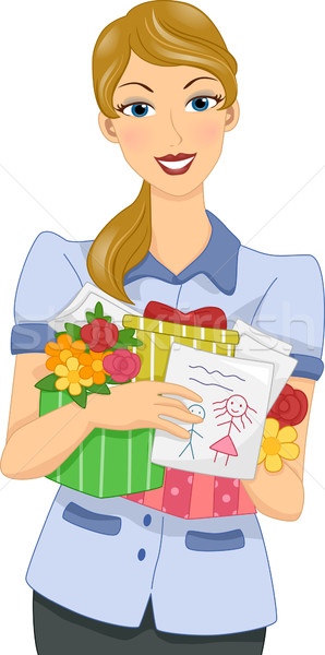 Teacher's Day Gifts Stock photo © lenm