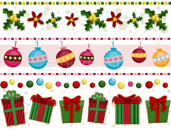 Christmas borders vector illustration lenm 327671 - Cenefas de papel infantiles ...