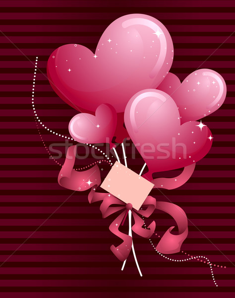 Heart Balloons Design Stock photo © lenm