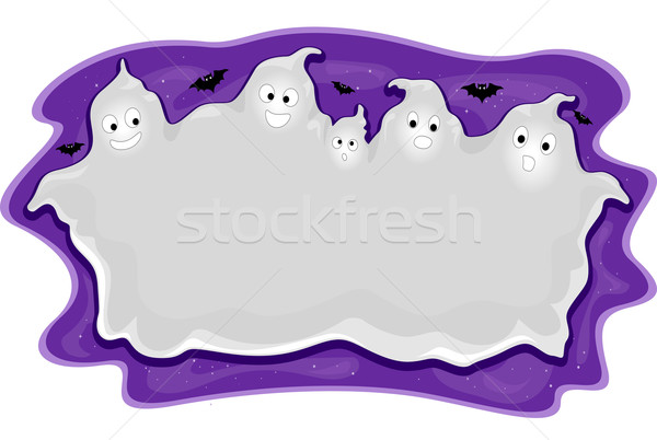 Halloween Ghost Frame Stock photo © lenm