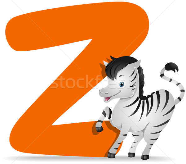 Zebra cartoon cute dierentuin vector Stockfoto © lenm