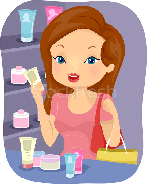 Girl Beauty Products Stock photo © lenm