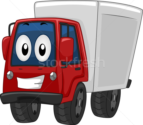 Mascot Delivery Truck Stock photo © lenm