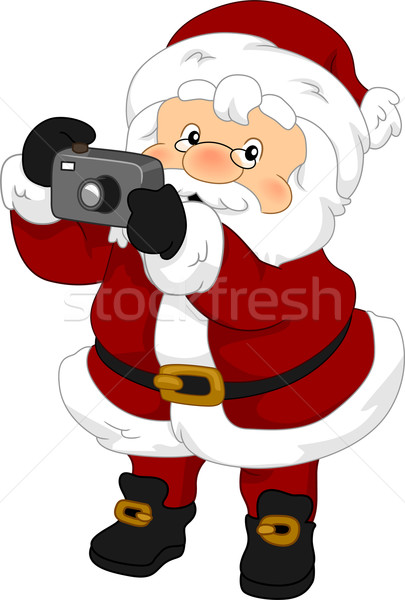 Santa Claus Camera Stock photo © lenm