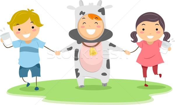 Cow Mascot Stock photo © lenm