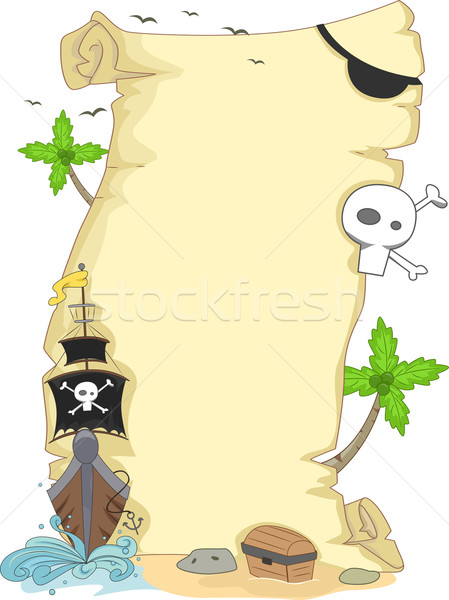 Pirate Scroll Background Stock photo © lenm
