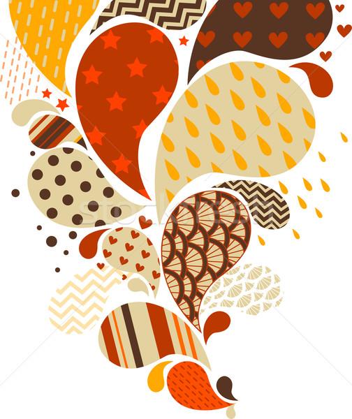 Résumé tourbillons Splash design illustration fond Photo stock © lenm