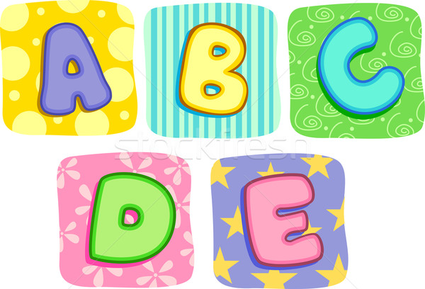 Quilt Alphabet Letters A B C D E Stock photo © lenm