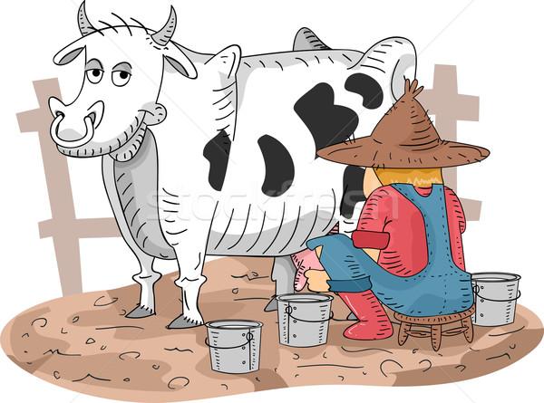 Cow Milking Stock photo © lenm