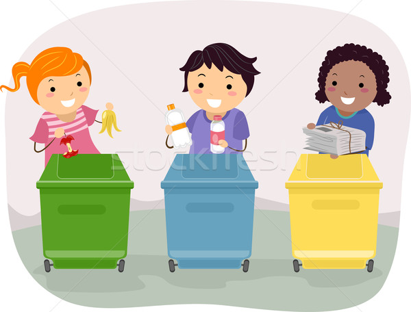 Waste Segregation Kids Stock photo © lenm