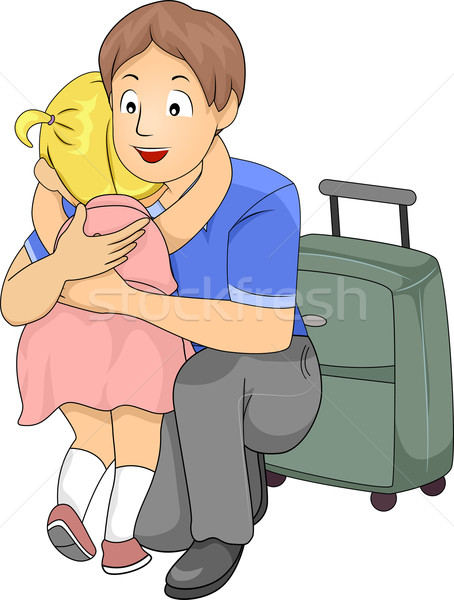 Goodbye Hug Stock photo © lenm