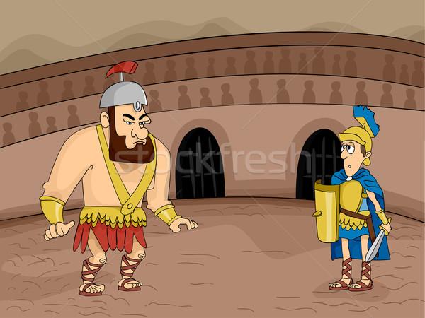 Gladiator Fight Stock photo © lenm